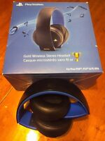 Sony Gold Wireless Headset for PS4, PS3 and Vita
