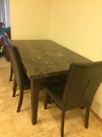 Dining table for sale, 4 chair and a bench