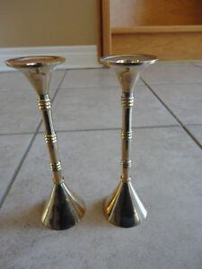 Set of 2 solid brass candlestick holder stand brand new London Ontario image 5