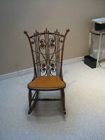 Wooden Antique Solid Wood Rocking Chair