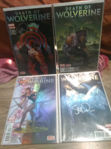 Death of Wolverine 1-4 Signed (McNiven) Complete