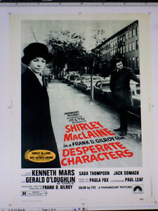 MOVIE POSTER: DESPERATE CHARACTERS