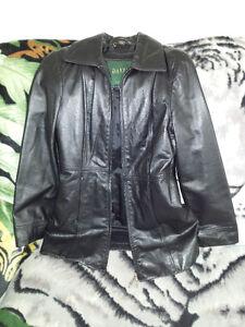 Black Danier Leather Jacket Size Small
