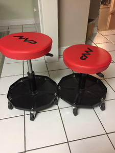Shop Stools - mobile, swivels