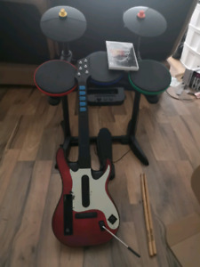 (Wii) Guitar hero: Warriors of Rock w/guitar & drums SELL ASAP