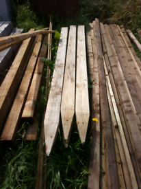 Fence posts boards and rails