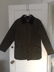 New Quilted Barbour Jacket in Olive - Medium