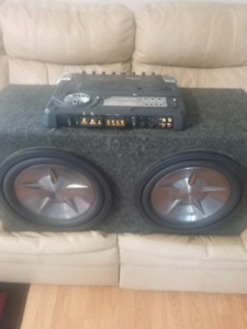 2 12 inch clarion sub woofers with kenwood excelon amp