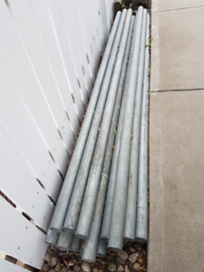 17 of 8 ft by 2 1/4 inch diam by 1/8 in thick galvanized posts