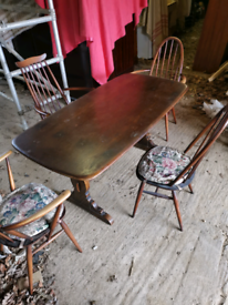 """ERCOL"" Dining table with x4 chairs"