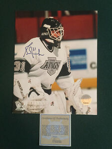 "Autographed 8""x10"" of Hall of Famer, Grant Fuhr L.A. Kings"