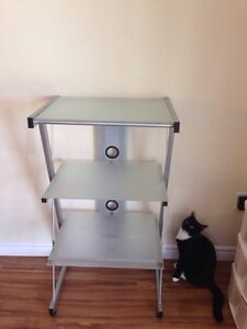 Frosted Glass Shelving Unit