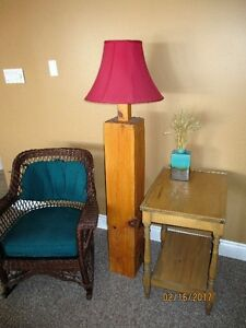 Rustic WOOD BEAM Floor Lamp