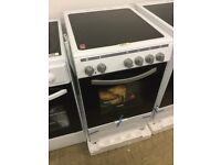 Montpellier Slim white Electric Cooker With Ceramic Top 50cm wide