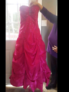 Fuahia prom dreass with adjustable tie up back