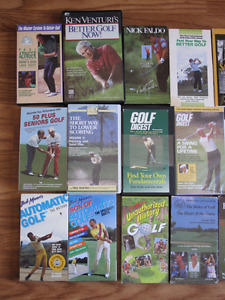 27 VHS Golf Tapes