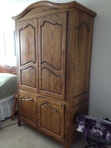 Solid wood armoire London Ontario image 2