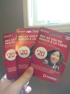 3 one month pre paid phone cards