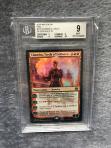 Magic the Gathering: Foil Chandra Torch of Defiance, BGS 9