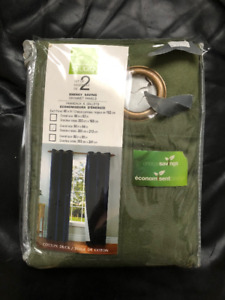 New Insulated Green Curtains