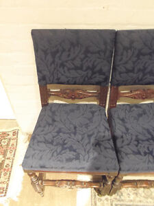 4 Luxurious Antique Rolling Dining Chairs: GORGEOUS, Vintage! London Ontario image 2