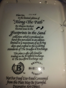Set of 4 Footprints in the Sand collector plates
