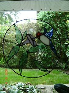 Stained glass Hummingbird ring