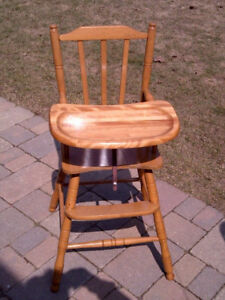 Solid Quebec Pine 1960's High Chair