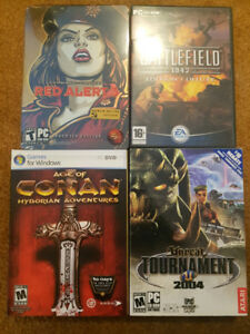 PC games WoW, Red Alert, Final Fantasy XIV, Half Life, etc..