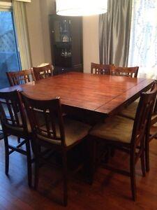 8 seat pub style dining set