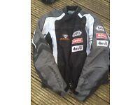 Ixon Grey white and black waterproof motorbike jacket size medium £25 ono