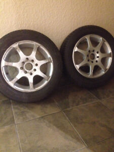 2X tires and rims