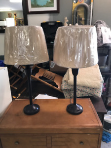 Four Matching Lamps