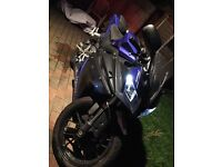 ! YAMAHA YZF R125 64 PLATE LOW MILEAGE 125CC MOTORBIKE !! not 50cc gilera cbr moped rs125 ktm