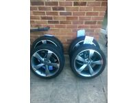 Audi vw wheels alloy rotor s-line rs4