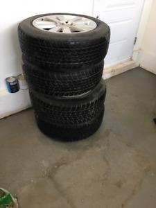 "4 X Subaru Tribeca Original Wheels + Winter 18"" Toyo Tires"