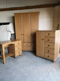 Bedroom furniture wardrobe chest of drawers dressing table