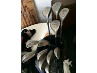 Full set beginners graphite clubs and irons