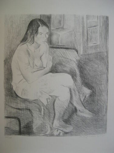 RAPHAEL SOYER Original Lithograph - Pencil Signed & Numbered