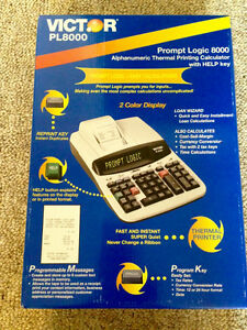 CALCULATOR PROMPT LOGIC 8000, ALPHANUMERIC THERMAL PRINTING St. John's Newfoundland image 2