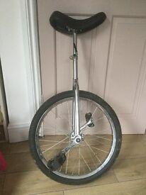 Chrome unicycle bargain!