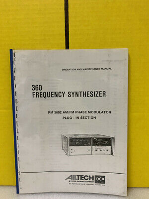 Ailtech 360 Frequency Synthesizer Pm 3602 Phase Modulator Plug-in Maintenence