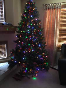 Artificial Christmas Tree with Lights- $50or Best Offer