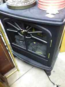 HEAVY CAST IRON ELECTRIC HEAT FIREPLACE