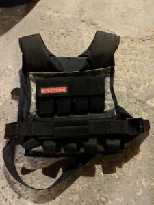 BOX weight vest, w/ 35lb rogue weights