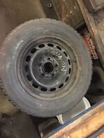 Winter tires and rims 215 60 15