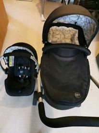 My child floe pram and car seat