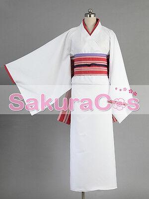 Noragami Stray God yato Nora Hine Cosplay Kostüm Kleid lolita Kimono Japan weiß (Noragami Nora Kostüm)