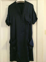 Bcbg Max Azria Ladies Navy Blue Silky Dress size xs