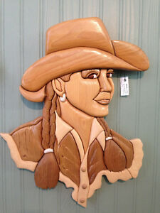Cowgirl by Woodworker Willie Kingston Kingston Area image 1